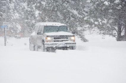 truck in winter